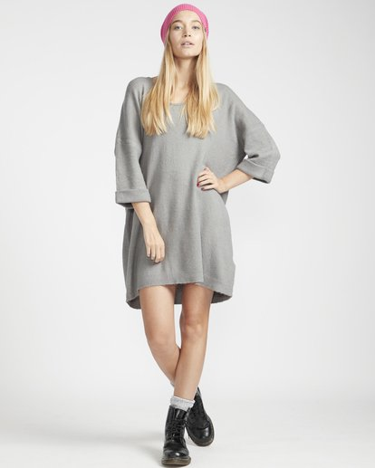 3 Holly Fire Comfy Knitted Dress Gris L3DR12BIF8 Billabong
