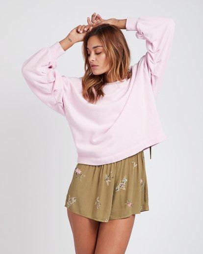 0 Hello Pretty Loose Fit Sweatshirt Violet L3FL02BIF8 Billabong