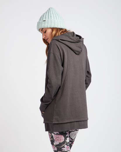 1 News Week Long V-Neck Zip Hoodie Noir L3FL04BIF8 Billabong