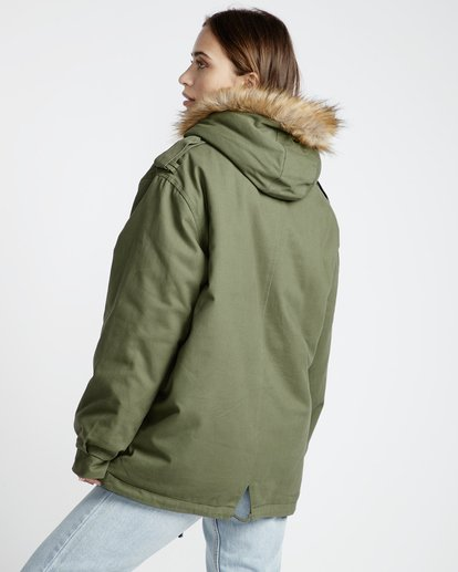 4 Westwood Regular Fit Parka Jacket Vert L3JK02BIF8 Billabong