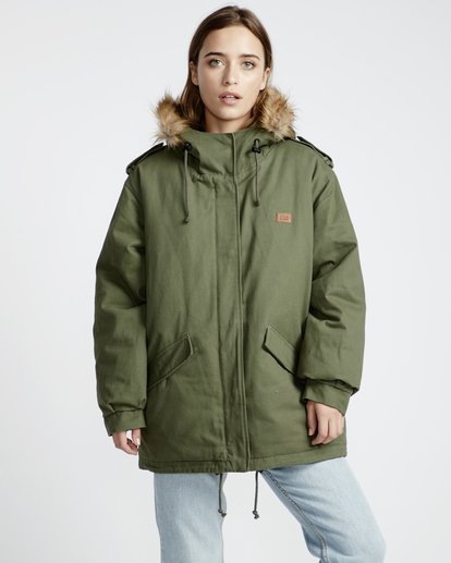 1 Westwood Regular Fit Parka Jacket Vert L3JK02BIF8 Billabong