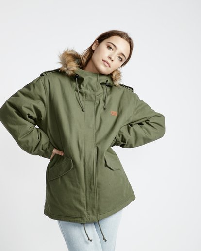 3 Westwood Regular Fit Parka Jacket Vert L3JK02BIF8 Billabong