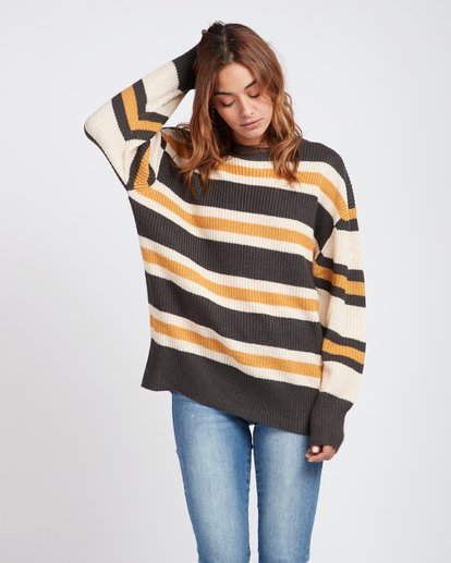 0 Late Night Striped Oversize Knitted Sweater  L3JP03BIF8 Billabong