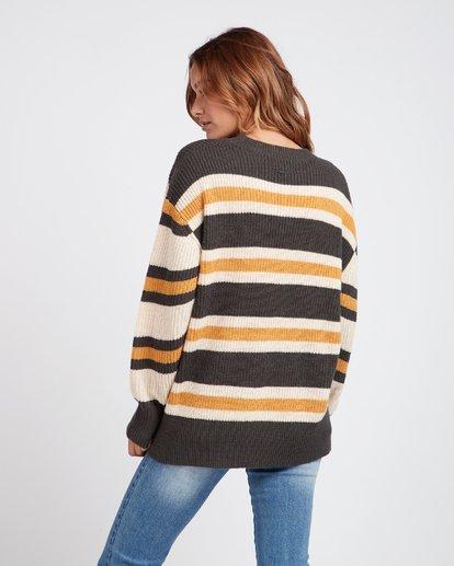 1 Late Night Striped Oversize Knitted Sweater  L3JP03BIF8 Billabong