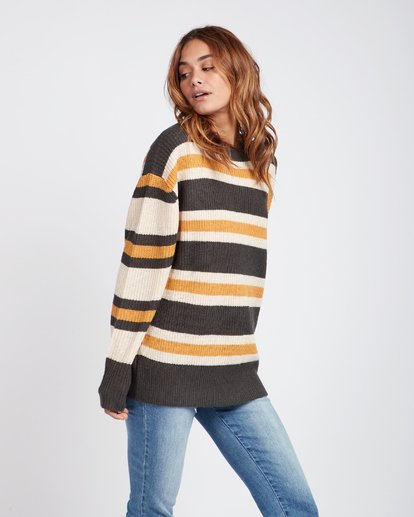 2 Late Night Striped Oversize Knitted Sweater  L3JP03BIF8 Billabong