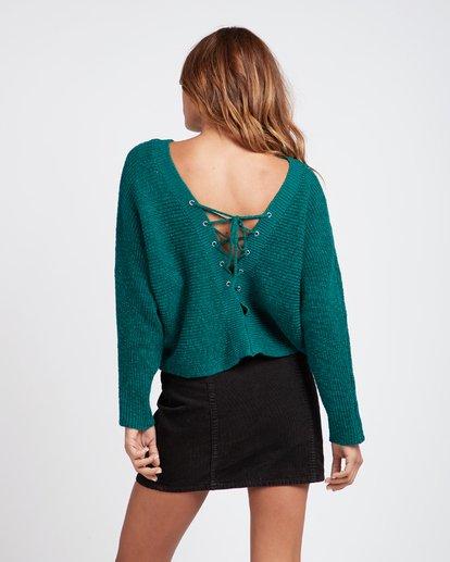 1 Backed Up Dolman Sleeves Sweater Vert L3JP08BIF8 Billabong