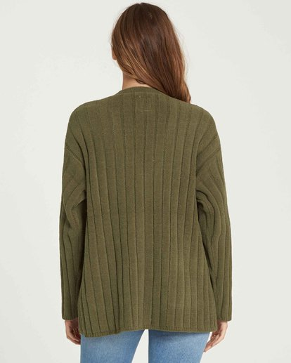 1 Just Relax Cozy Oversized Chenille Cardigan Vert L3JP09BIF8 Billabong