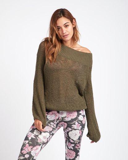 0 Rolled Up Off-The-Shoulder Sweater Vert L3JP11BIF8 Billabong