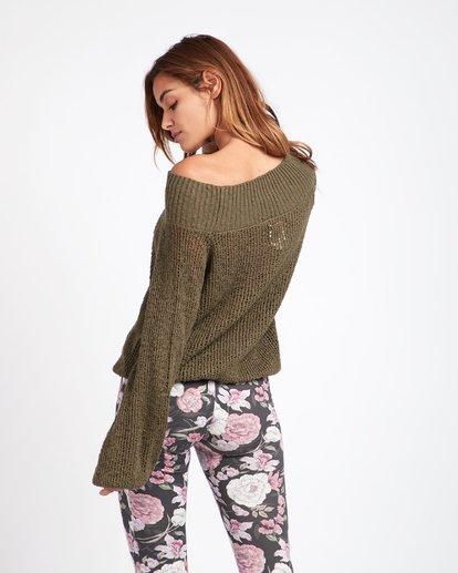 1 Rolled Up Off-The-Shoulder Sweater Vert L3JP11BIF8 Billabong