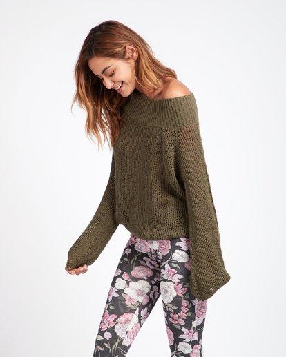 2 Rolled Up Off-The-Shoulder Sweater Vert L3JP11BIF8 Billabong