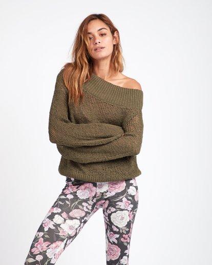 3 Rolled Up Off-The-Shoulder Sweater Vert L3JP11BIF8 Billabong