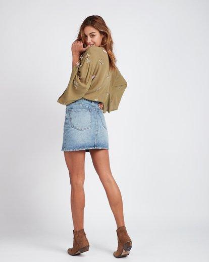 6 Black Magic Slim Fit Denim Skirt Bleu L3SK02BIF8 Billabong