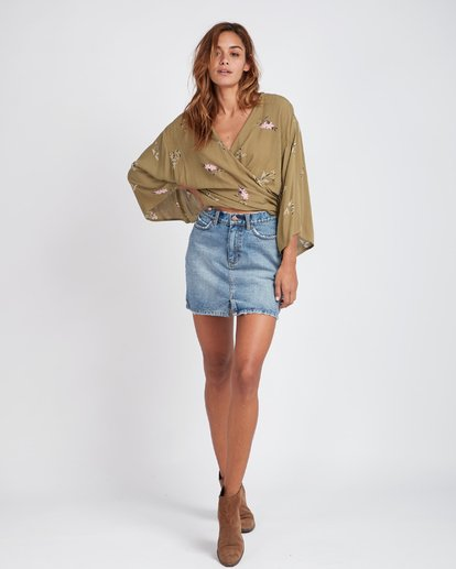 9 Black Magic Slim Fit Denim Skirt Bleu L3SK02BIF8 Billabong
