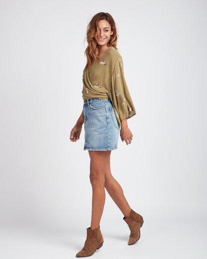 3 Black Magic Slim Fit Denim Skirt Bleu L3SK02BIF8 Billabong