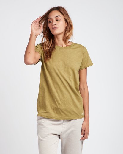 0 Essential Boyfriend Fit T-Shirt Vert L3SS01BIF8 Billabong