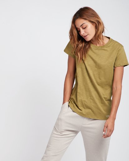 1 Essential Boyfriend Fit T-Shirt Vert L3SS01BIF8 Billabong