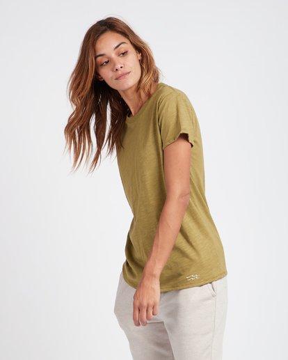 2 Essential Boyfriend Fit T-Shirt Vert L3SS01BIF8 Billabong