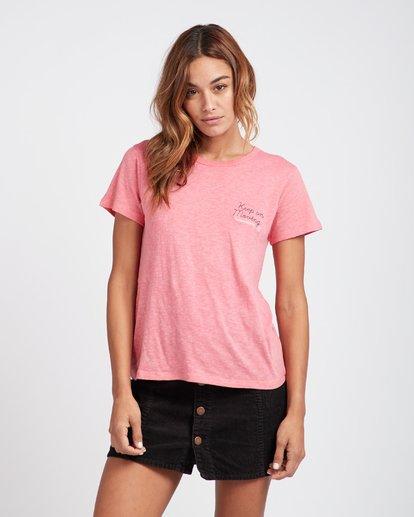 2 High Five Retro Look T-Shirt Rouge L3SS05BIF8 Billabong