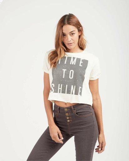 0 Shine Bright Boyfriend Fit T-Shirt Beige L3SS11BIF8 Billabong
