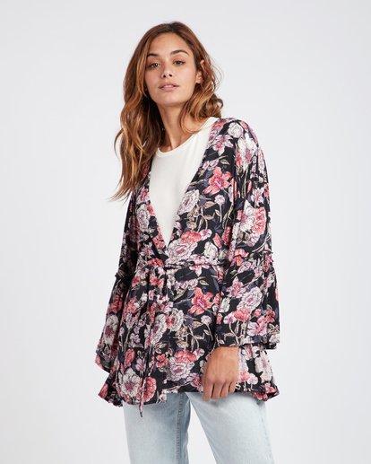 3 All Flored Kimono Top Negro L3TP07BIF8 Billabong