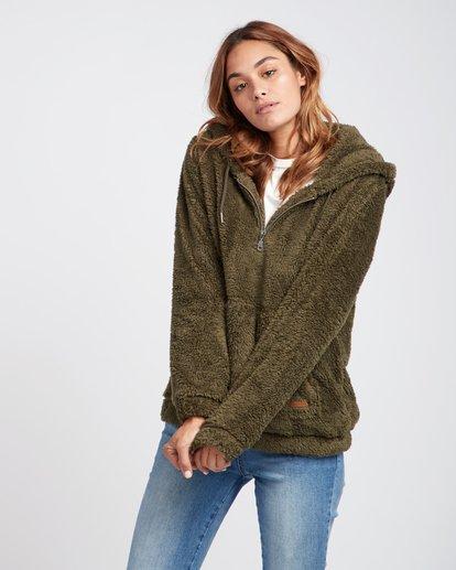 0 Cozy For Keeps Loose Knit Hoodie Vert L3WA11BIF8 Billabong