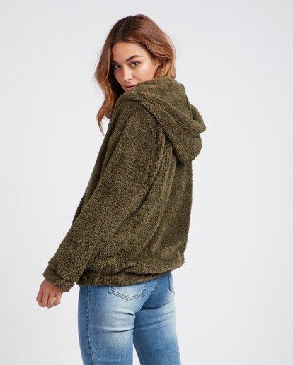 1 Cozy For Keeps Loose Knit Hoodie Vert L3WA11BIF8 Billabong