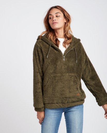 2 Cozy For Keeps Loose Knit Hoodie Vert L3WA11BIF8 Billabong