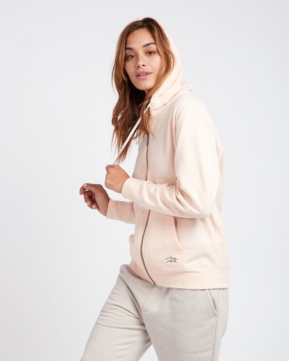 3 Essential Loose Fit Zip Hoodie Beige L3ZH01BIF8 Billabong