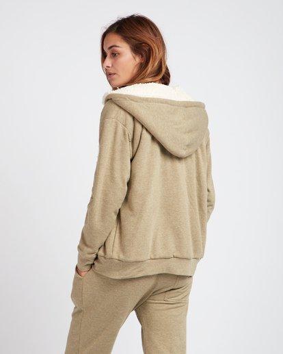 1 Essential Loose Fit Sherpa Lined Zip Hoodie Vert L3ZH02BIF8 Billabong