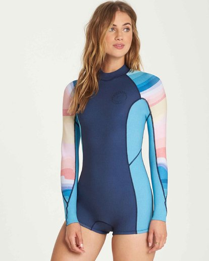 1 2/2 Spring Fever Long Sleeves Back Zip Springsuit Wetsuit  L42G03BIF8 Billabong