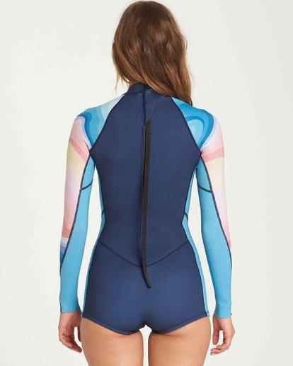 2 2/2 Spring Fever Long Sleeves Back Zip Springsuit Wetsuit  L42G03BIF8 Billabong