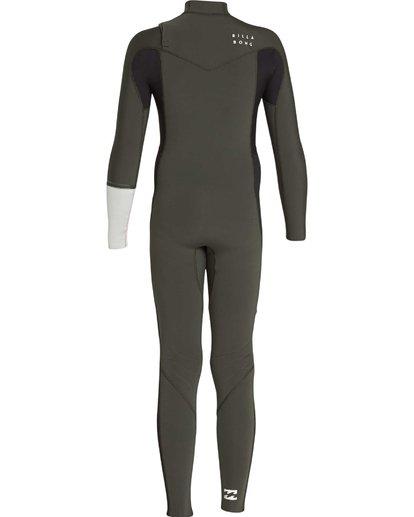 6 3/2 Boys Furnace Revolution Chest Zip Wetsuit Vert L43B04BIF8 Billabong
