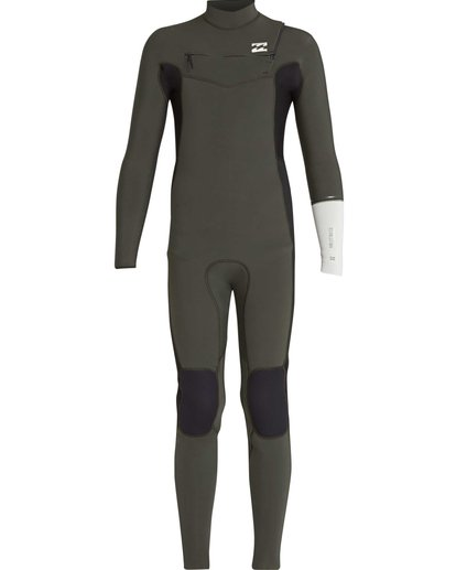 5 3/2 Boys Furnace Revolution Chest Zip Wetsuit Vert L43B04BIF8 Billabong