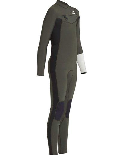 7 3/2 Boys Furnace Revolution Chest Zip Wetsuit Verde L43B04BIF8 Billabong