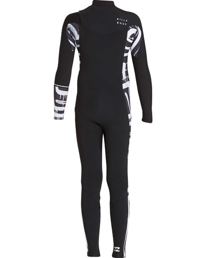 6 3/2 Boys Furnace Revolution Chest Zip Wetsuit Schwarz L43B04BIF8 Billabong