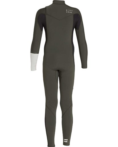 1 3/2 Boys Furnace Revolution Chest Zip Wetsuit Verde L43B04BIF8 Billabong