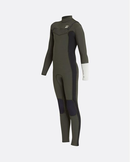 0 3/2 Boys Furnace Revolution Chest Zip Wetsuit Green L43B04BIF8 Billabong