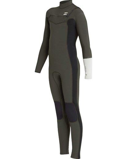 2 3/2 Boys Furnace Revolution Chest Zip Wetsuit Vert L43B04BIF8 Billabong
