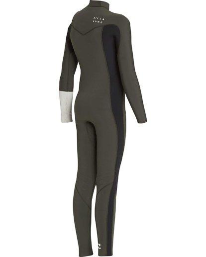 4 3/2 Boys Furnace Revolution Chest Zip Wetsuit Vert L43B04BIF8 Billabong