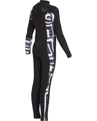 4 3/2 Boys Furnace Revolution Chest Zip Wetsuit Schwarz L43B04BIF8 Billabong