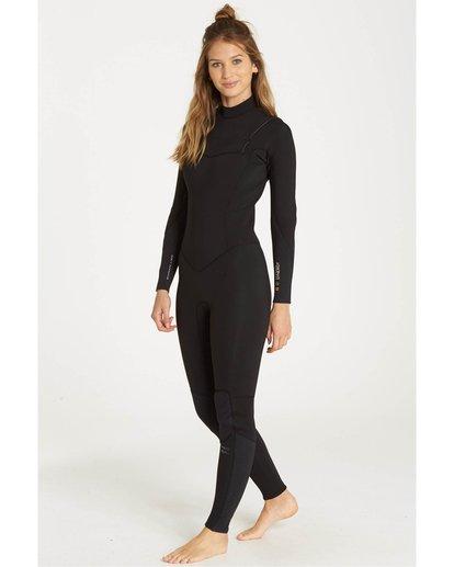 0 3/2 Furnace Synergy Chest Zip Gbs Fullsuit Wetsuit Noir L43G03BIF8 Billabong