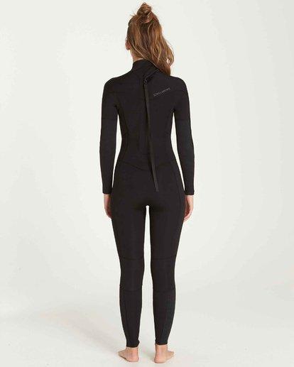 1 3/2 Furnace Synergy Back Zip Gbs Fullsuit Wetsuit Black L43G04BIF8 Billabong