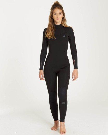 0 3/2 Furnace Synergy Back Zip Gbs Fullsuit Wetsuit Black L43G04BIF8 Billabong