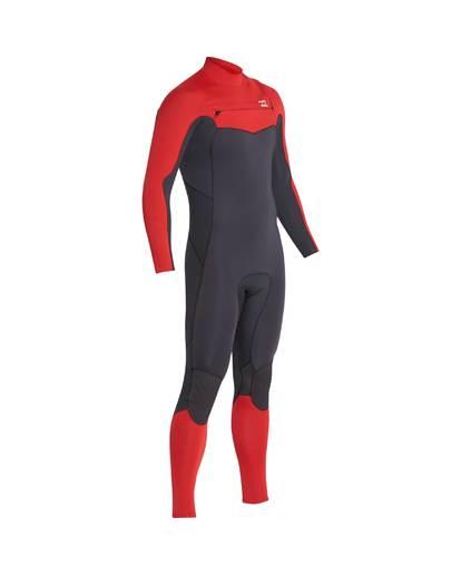 5 3/2 Furnace Absolute Chest Zip Gbs Wetsuit Rot L43M09BIF8 Billabong