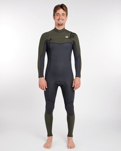 0 3/2 Furnace Absolute Chest Zip Gbs Wetsuit Grün L43M09BIF8 Billabong