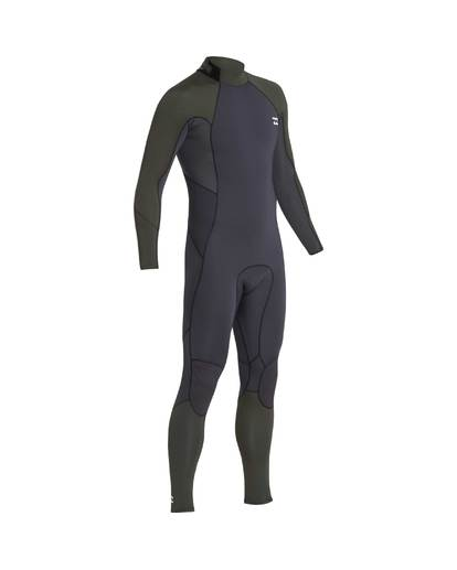 4 3/2 Furnace Absolute Back Zip Gbs Wetsuit Grün L43M10BIF8 Billabong