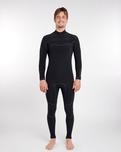 7 3/2 Furnace Carbon Ultra Chest Zip Wetsuit Noir L43M25BIF8 Billabong