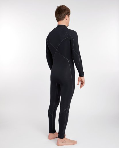 9 3/2 Furnace Carbon Ultra Chest Zip Wetsuit Noir L43M25BIF8 Billabong