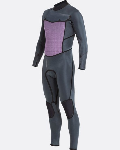 5 3/2 Furnace Absolute X Chest Zip Wetsuit Gray L43M27BIF8 Billabong