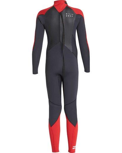1 4/3 Boys Furnace Absolute Back Zip Gbs Wetsuit Rot L44B06BIF8 Billabong